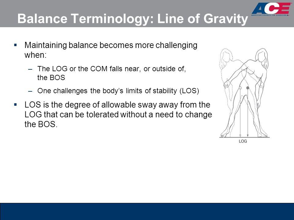 Balance Terminology: Line of Gravity