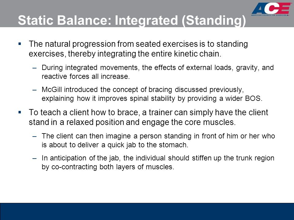 Static Balance: Integrated (Standing)