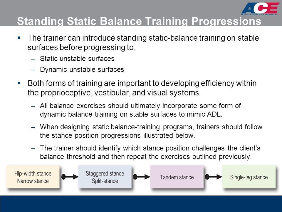 Standing Static Balance Training Progressions