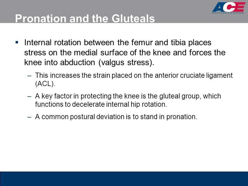 Pronation and the Gluteals