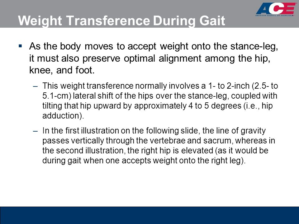 Weight Transference During Gait