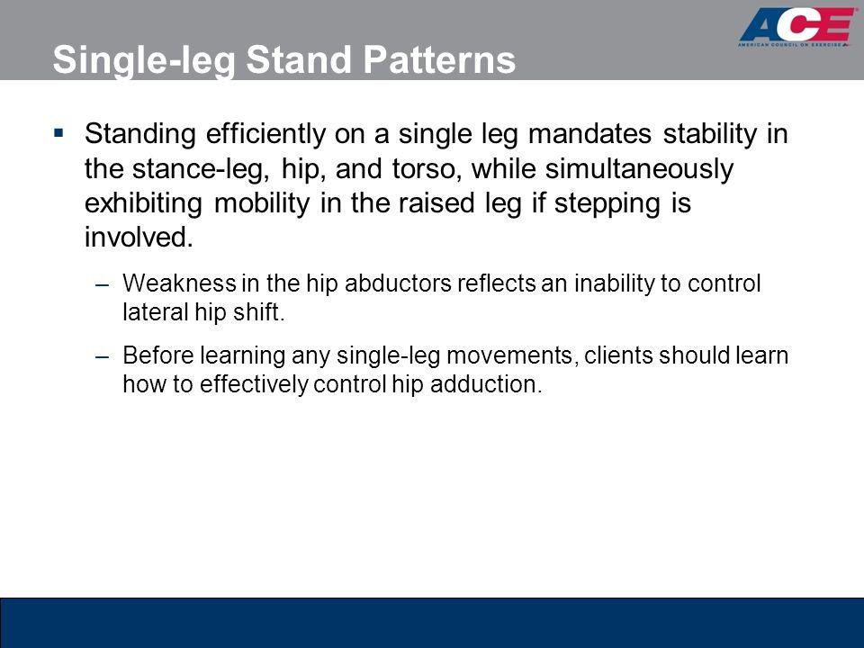 Single-leg Stand Patterns