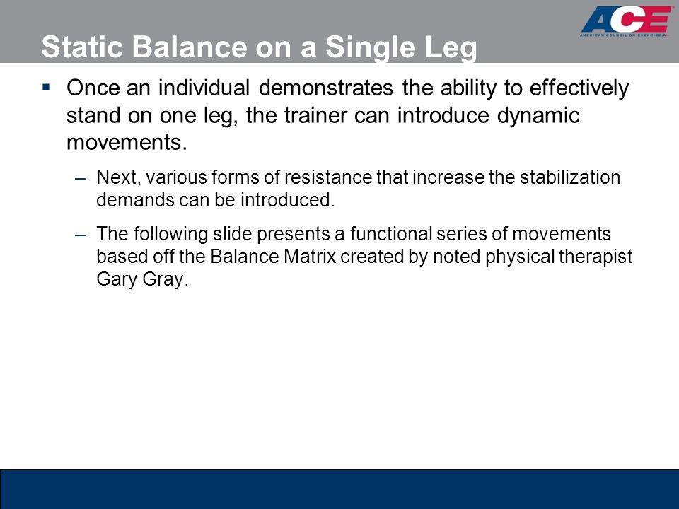 Static Balance on a Single Leg