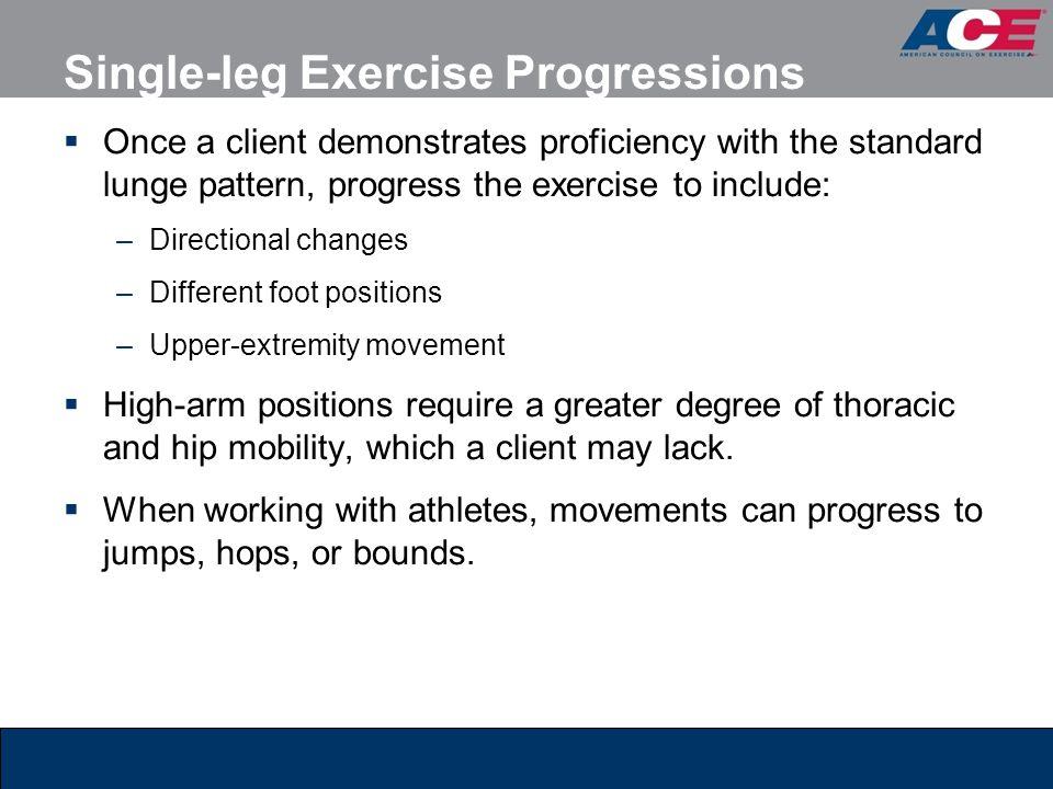 Single-leg Exercise Progressions