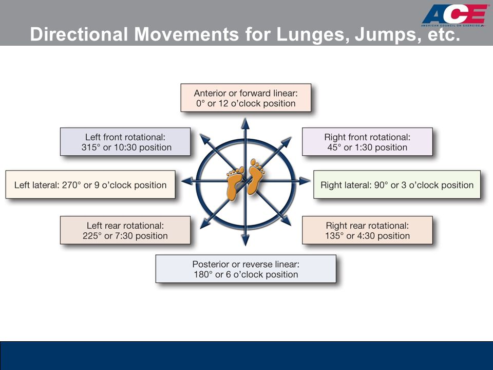 Directional Movements for Lunges, Jumps, etc.