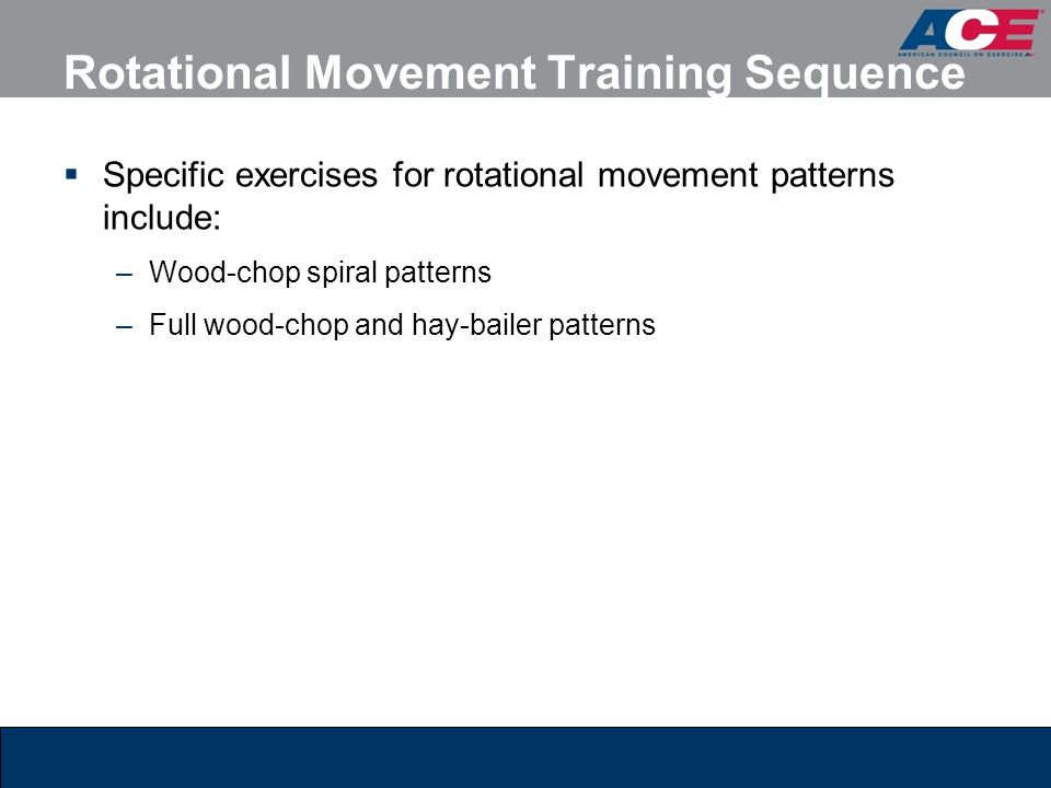 Rotational Movement Training Sequence