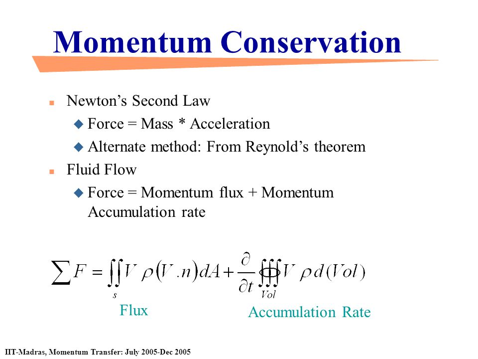 velocity and momentum conservation equation From our equation relating impulse and velocity, it is logical to define the momentum of a single particle, denoted by the vector p, as such: p = mv again, momentum is a vector quantity, pointing in the direction of the velocity of the object.