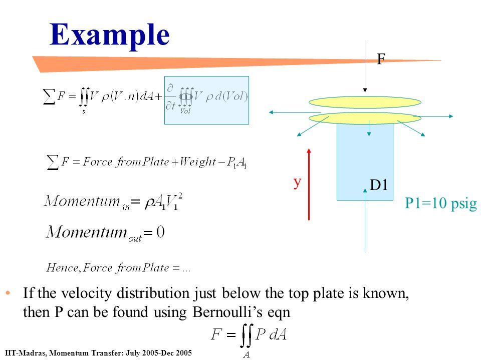 Example F. y. D1. P1=10 psig.