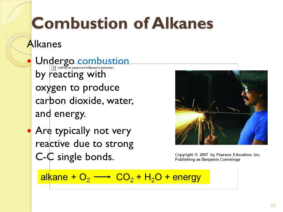 Combustion of Alkanes Alkanes