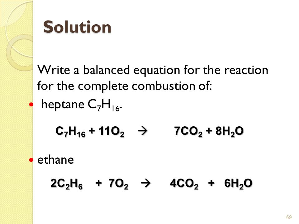 Propane Equation For Combustion Of Propane