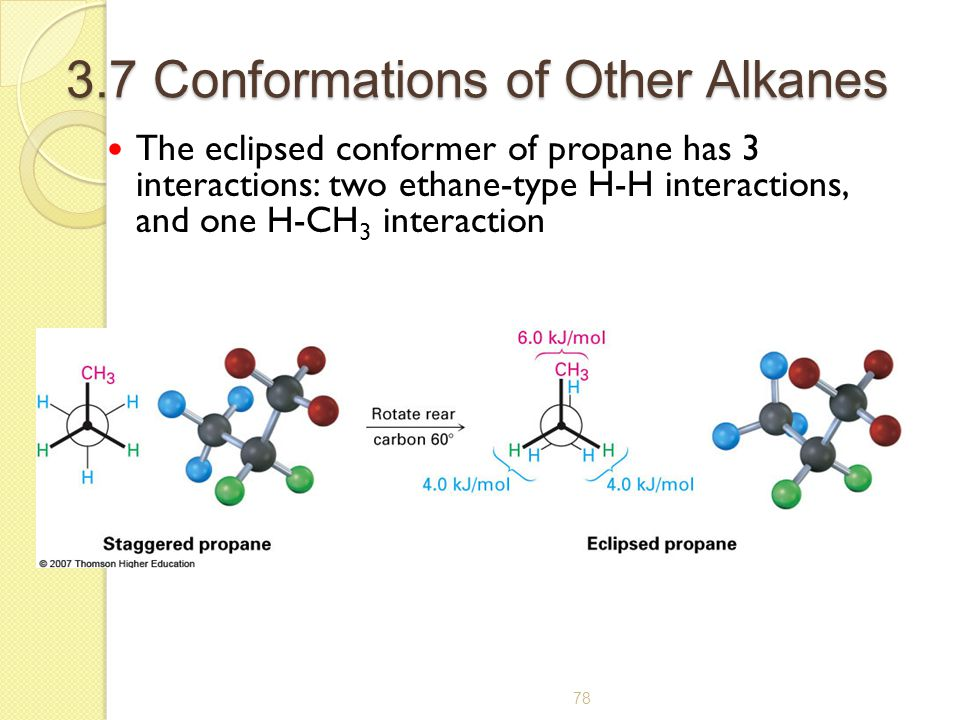 3.7 Conformations of Other Alkanes