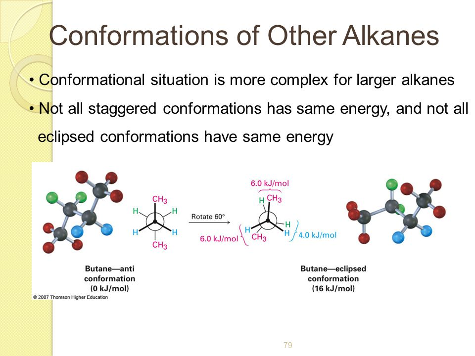 Conformations of Other Alkanes