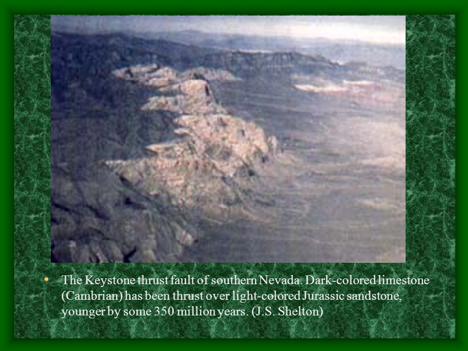 The Keystone thrust fault of southern Nevada