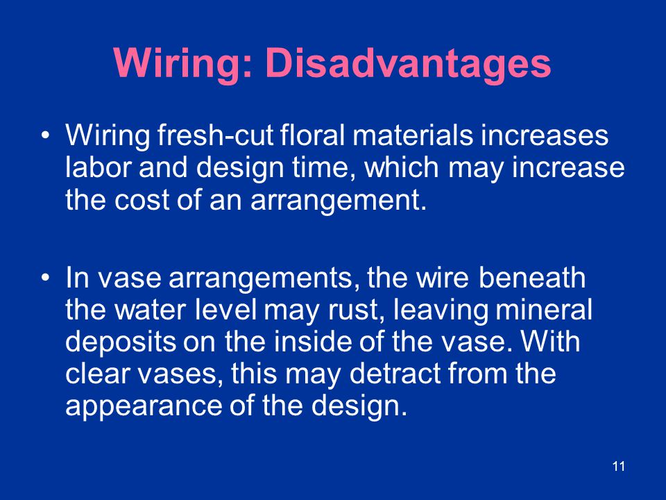 Wiring: Disadvantages