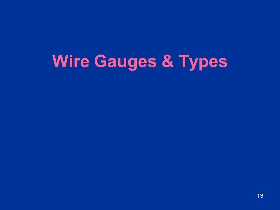 Wire Gauges & Types