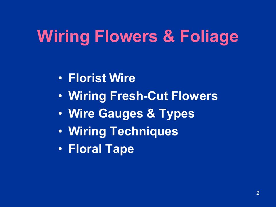 Wiring Flowers & Foliage