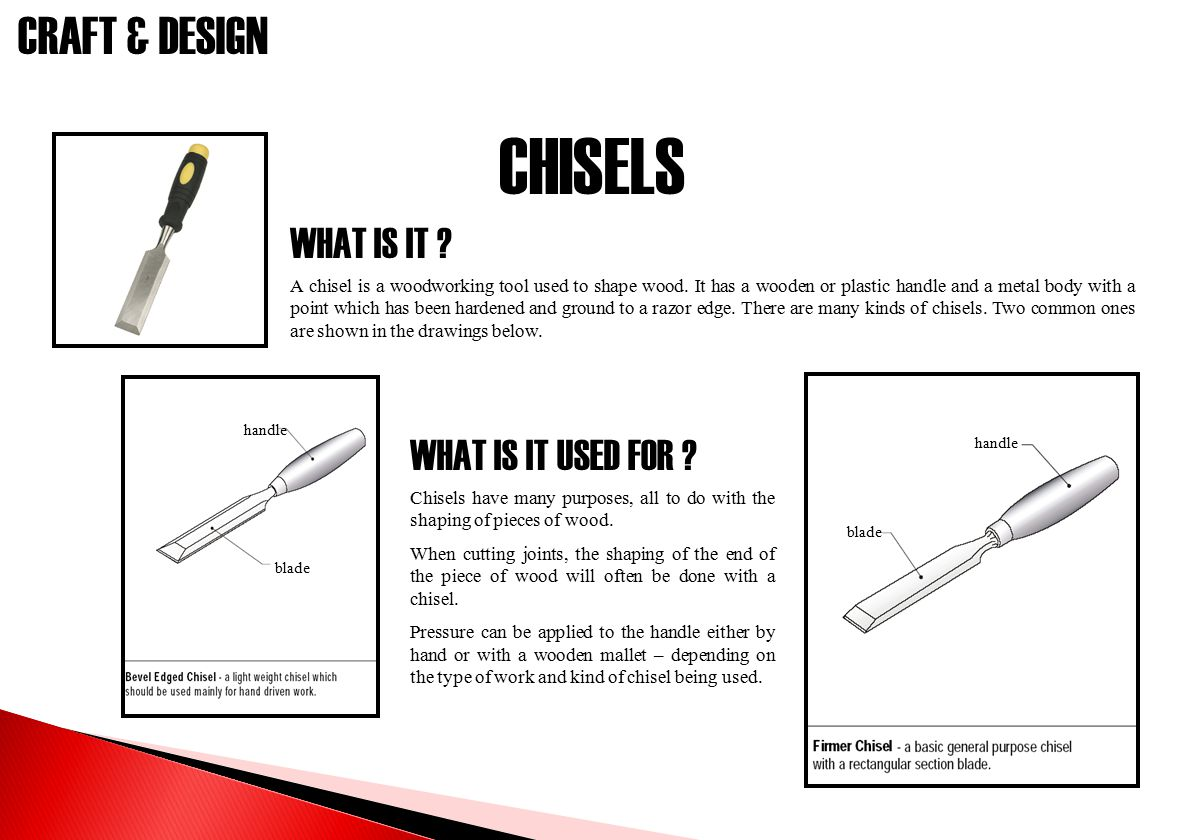 CHISELS WHAT IS IT WHAT IS IT USED FOR