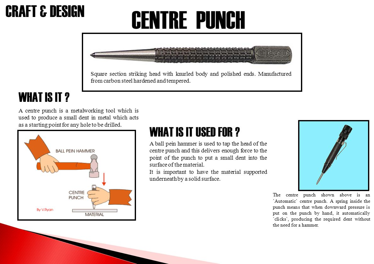 CENTRE PUNCH WHAT IS IT WHAT IS IT USED FOR