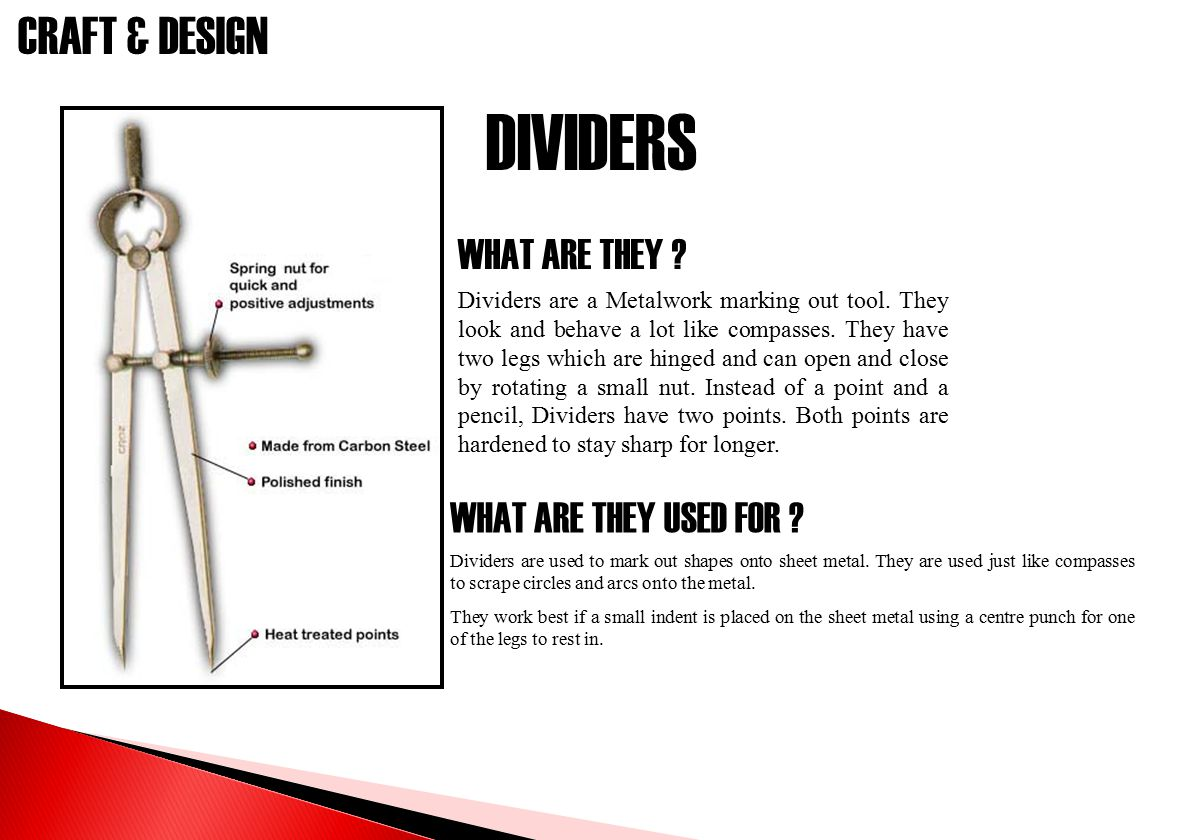 DIVIDERS WHAT ARE THEY WHAT ARE THEY USED FOR
