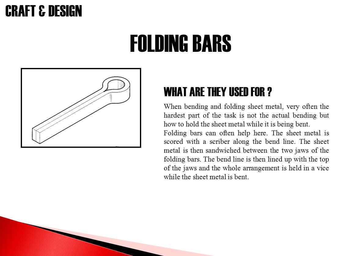 FOLDING BARS WHAT ARE THEY USED FOR