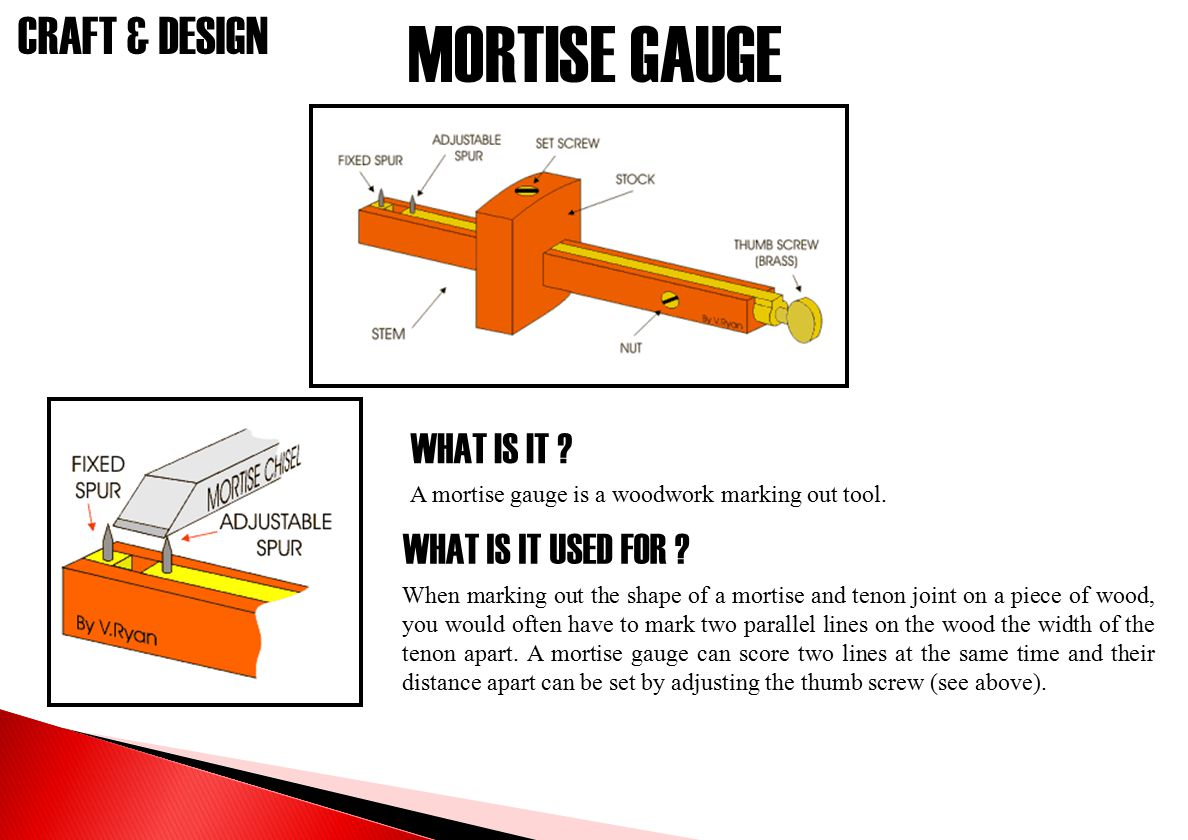 MORTISE GAUGE WHAT IS IT WHAT IS IT USED FOR