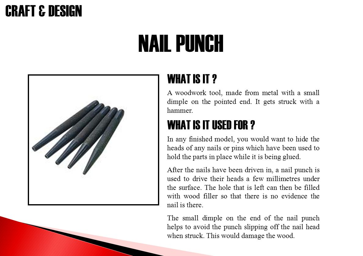 NAIL PUNCH WHAT IS IT WHAT IS IT USED FOR