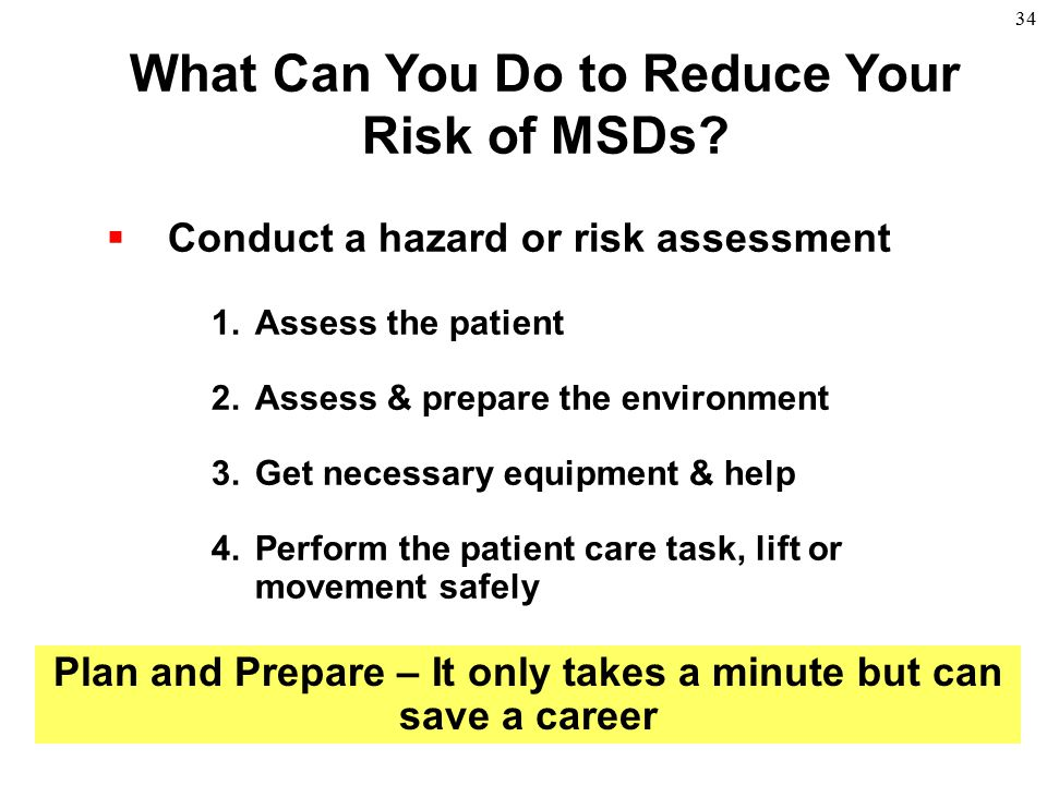 What Can You Do to Reduce Your Risk of MSDs