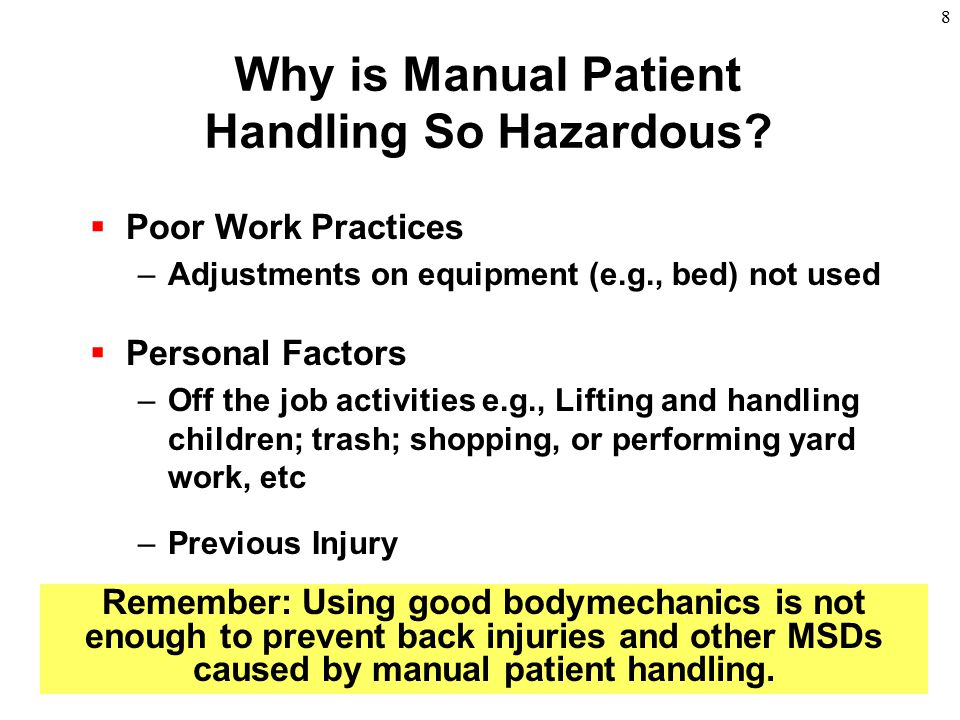 Why is Manual Patient Handling So Hazardous