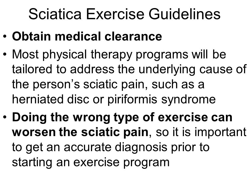 Sciatica Exercise Guidelines