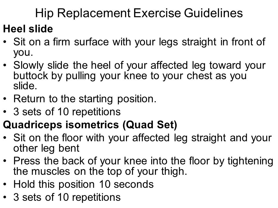 Hip Replacement Exercise Guidelines