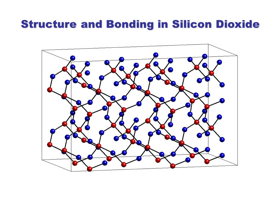 Structure and Bonding in Silicon Dioxide