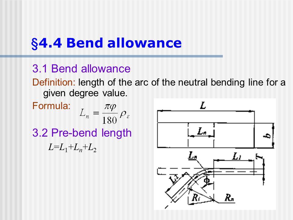 §4.4 Bend allowance 3.1 Bend allowance 3.2 Pre-bend length