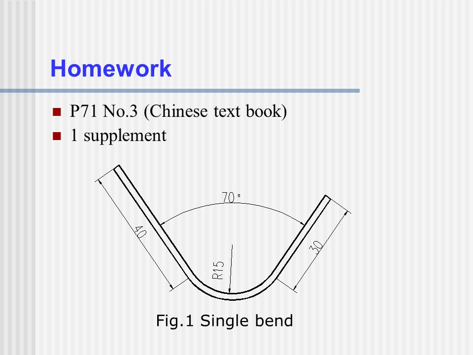 Homework P71 No.3 (Chinese text book) 1 supplement Fig.1 Single bend