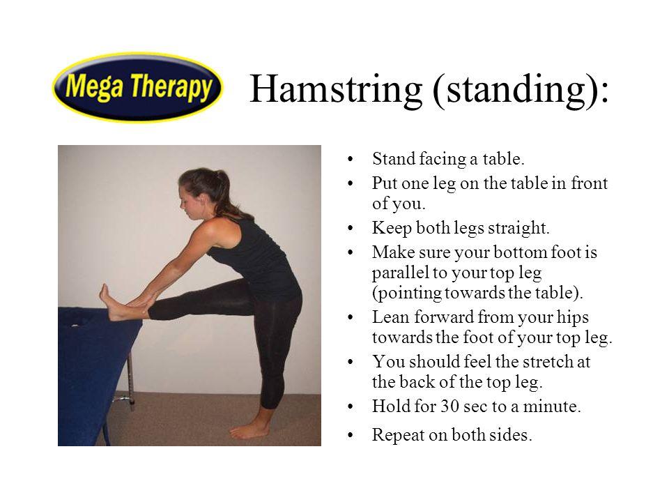 Hamstring (standing):