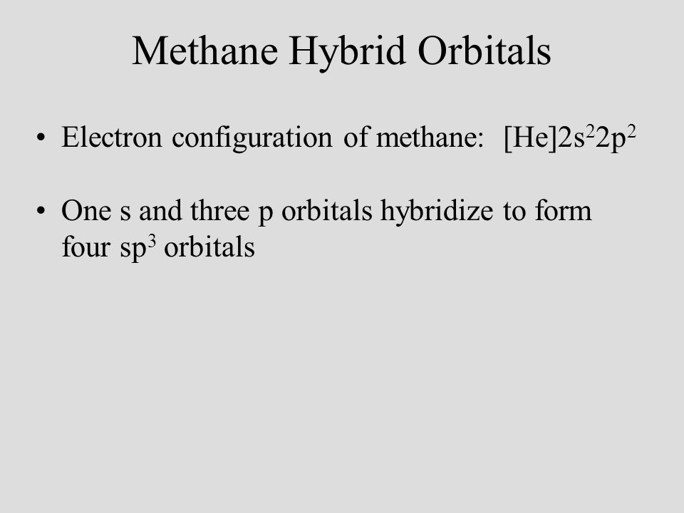 Methane Hybrid Orbitals