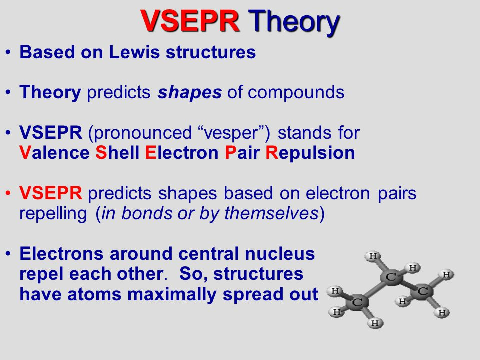 VSEPR Theory Based on Lewis structures