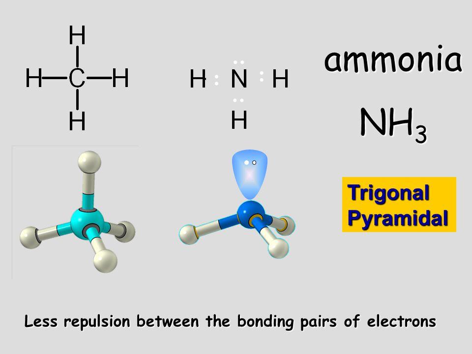 ammonia NH3 .. .. .. .. Trigonal Pyramidal