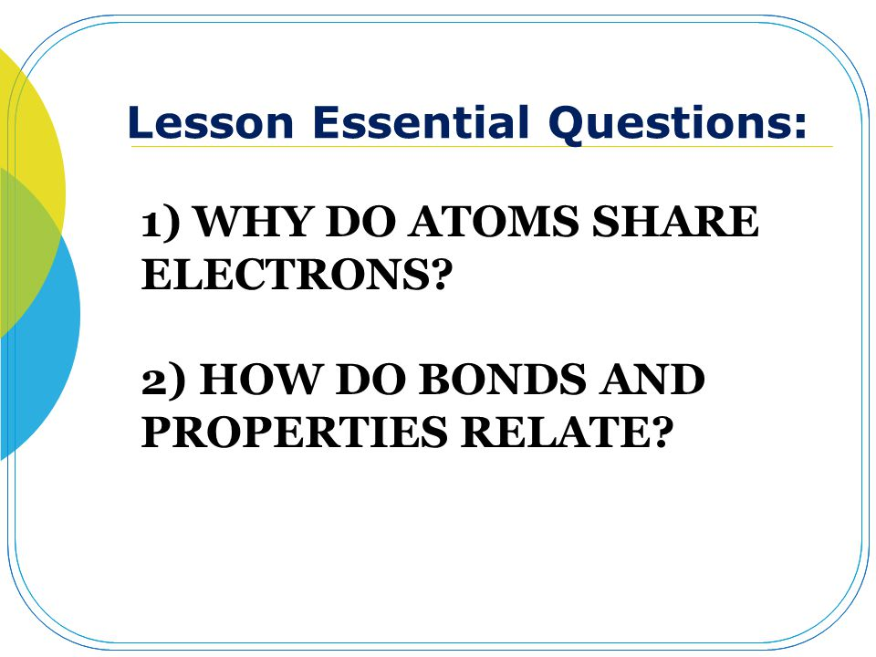 Lesson Essential Questions: