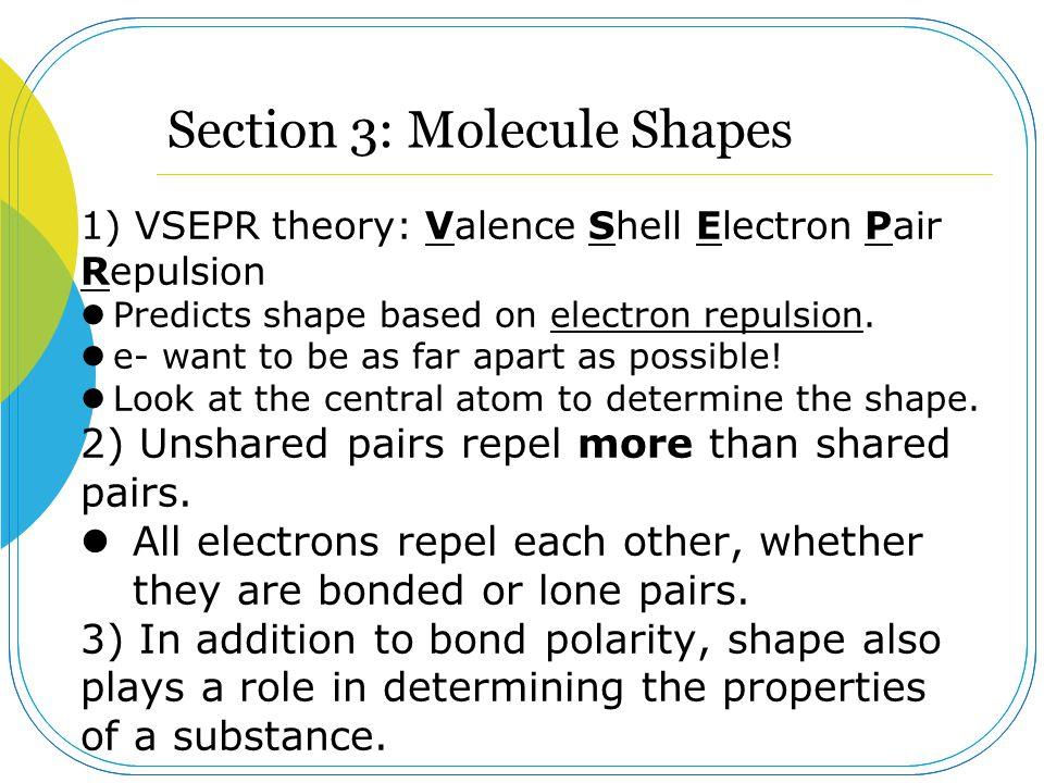 Section 3: Molecule Shapes
