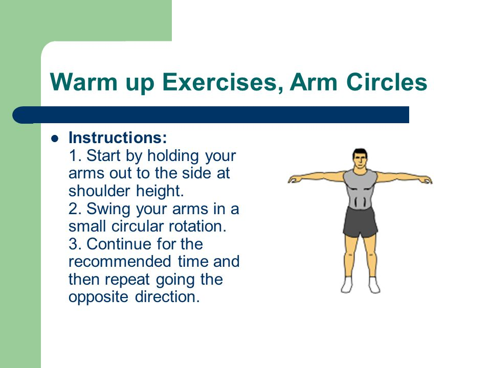 Warm up Exercises, Arm Circles