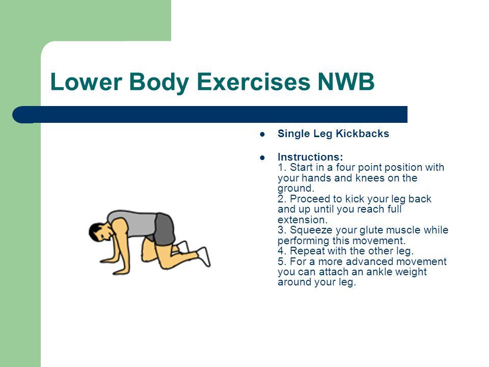Lower Body Exercises NWB