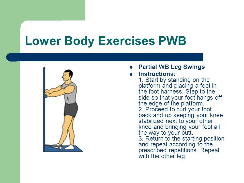 Lower Body Exercises PWB