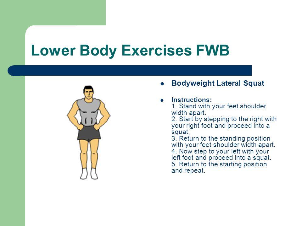 Lower Body Exercises FWB