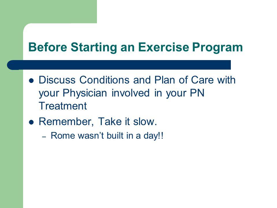 Before Starting an Exercise Program