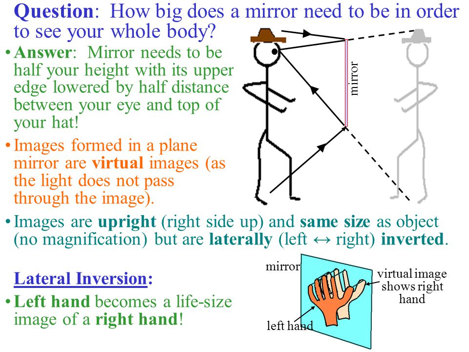 virtual image shows right hand