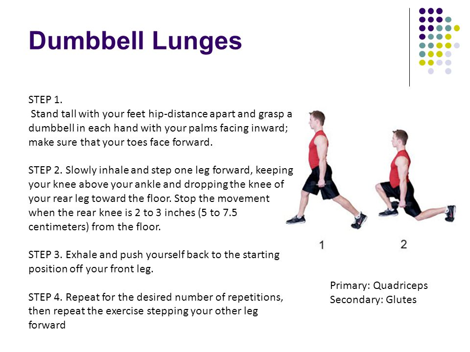 Dumbbell Lunges STEP 1.