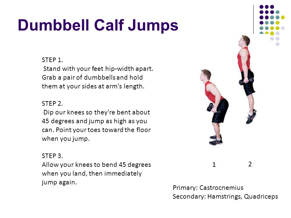 Dumbbell Calf Jumps STEP 1.