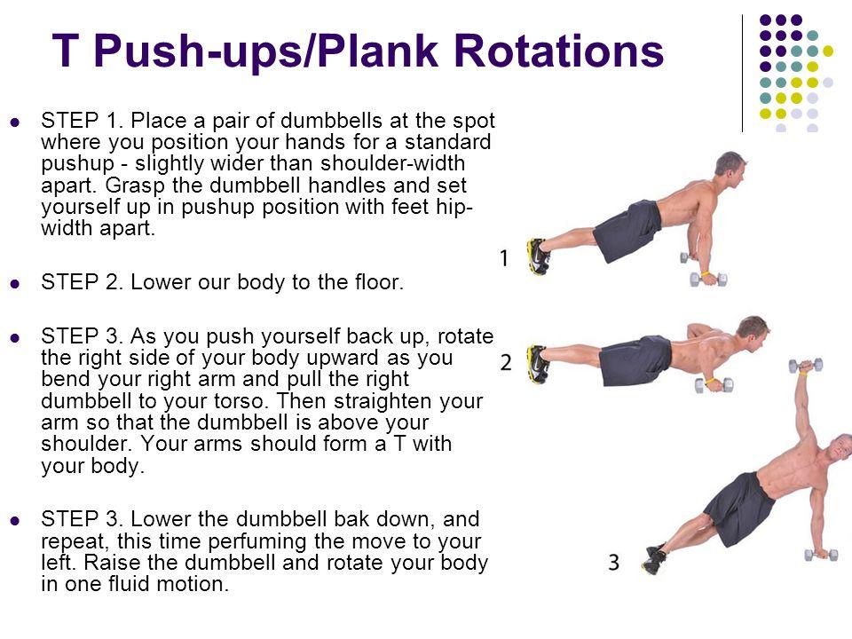 T Push-ups/Plank Rotations