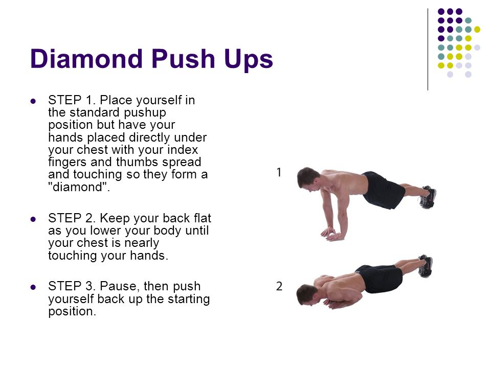 Diamond Push Ups