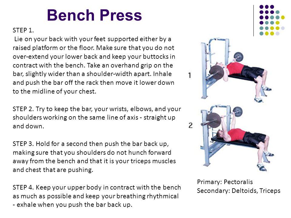 Bench Press STEP 1.
